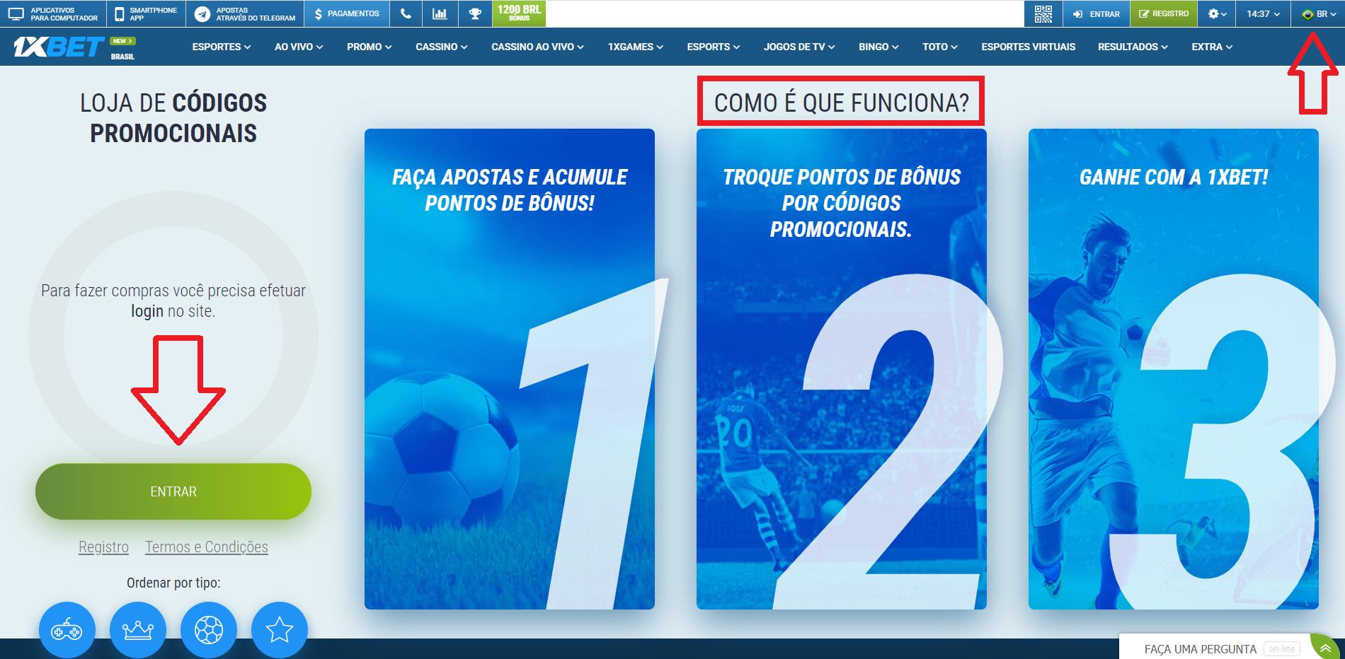 O casino que não desagrada com codigo promocional 1xBet para o Brasil